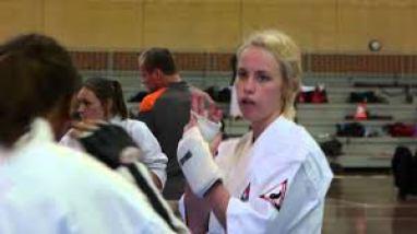girls sparring