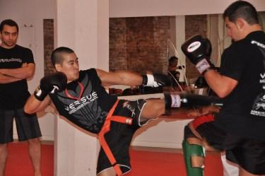 sparring men