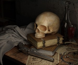 skull-and-book