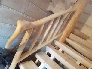 Schody wykonane z drewna