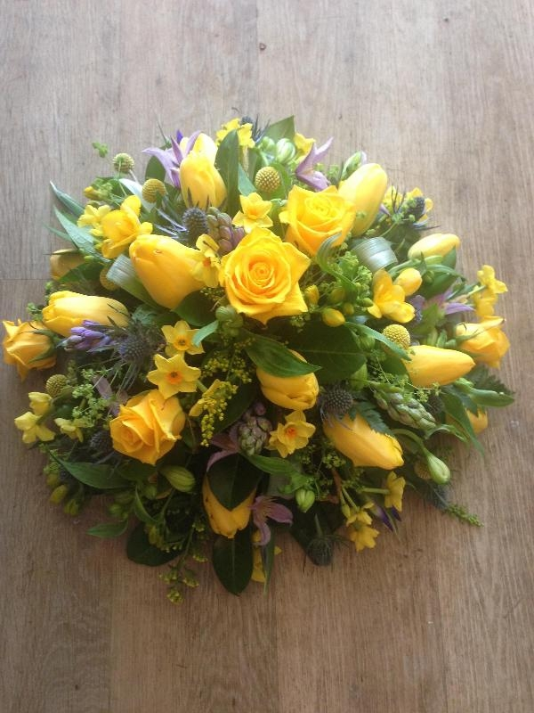 yellow posy with hints