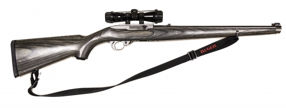 used Ruger 10/22 SS Mannlicher $204.00 SHIPS FREE