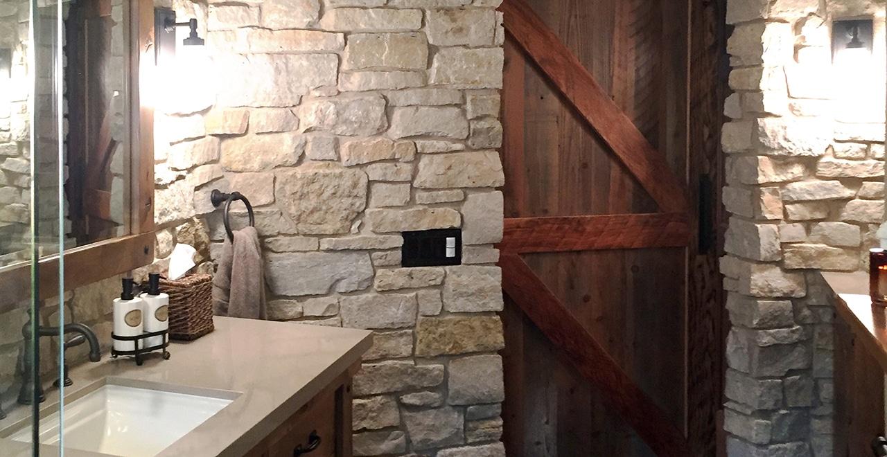 Fond Du Lac Rustic Veneer Stone Home Interior Masonry