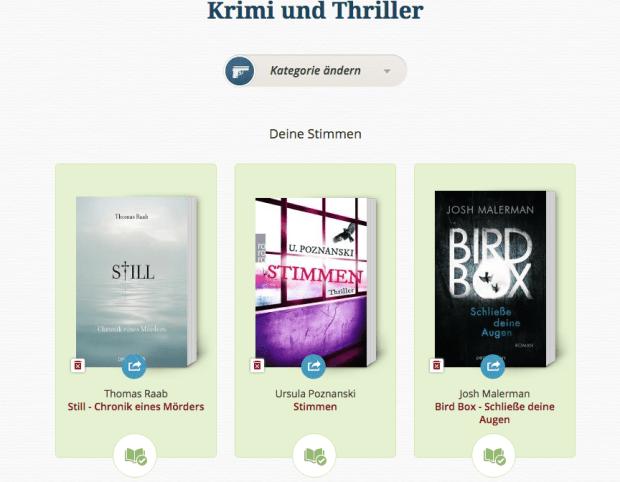 Lovelybooks Leserpreis 2015 Krimi und Thriller