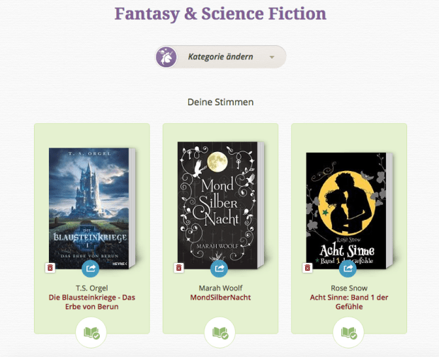 Lovelybooks Leserpreis 2015 Fantasy und Science Fiction