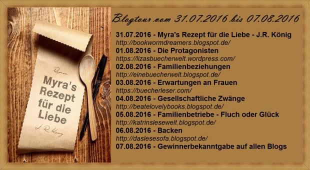 Uebersicht Tour Myra's Rezept für die Liebe