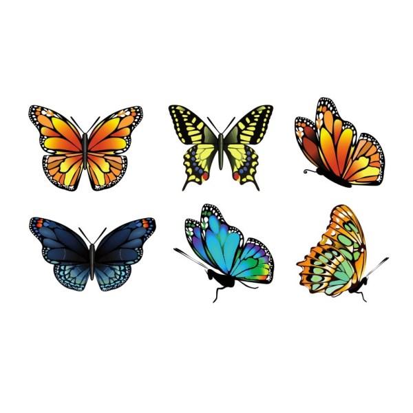Bügelbilder SET Schmetterling
