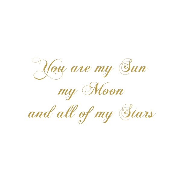 Bügelbild You are my sun ...