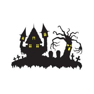 Bügelbild Geisterhaus