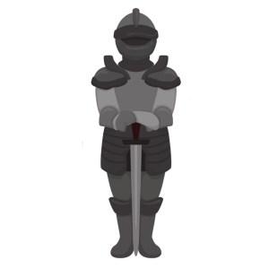 Bügelbild Ritter in Rüstung