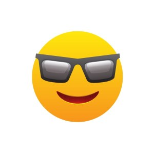 Bügelbild Emoji - COOL