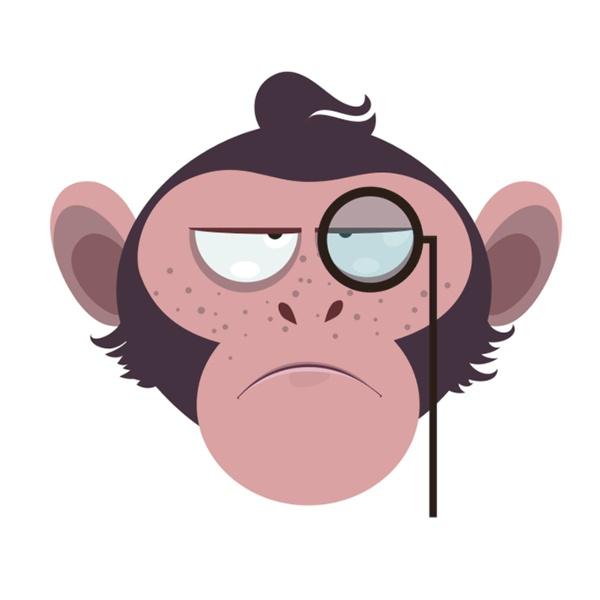 Bügelbild Monkey 6