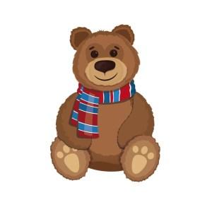 Bügelbild Mutz der Bär