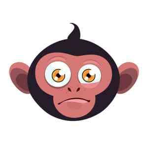 Bügelbild Monkey 8