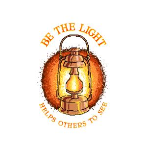 Bügelbild Be the Light