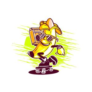 Bügelbild Mr. Banana
