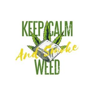 Bügelbild Keep Calm and Smoke Weed