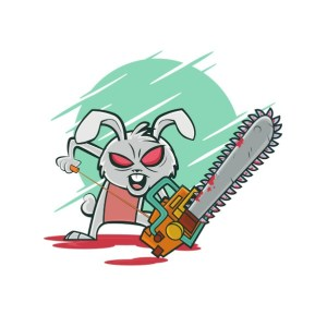 Bügelbild Psycho Bunny
