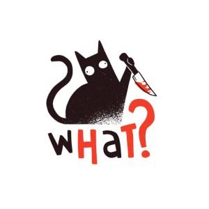 Bügelbild Cat - What?