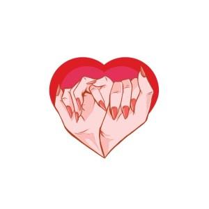 Bügelbild Love Hands