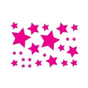 Bügelbilder Set Sterne magenta solid