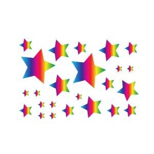 Bügelbilder Set Sterne rainbow