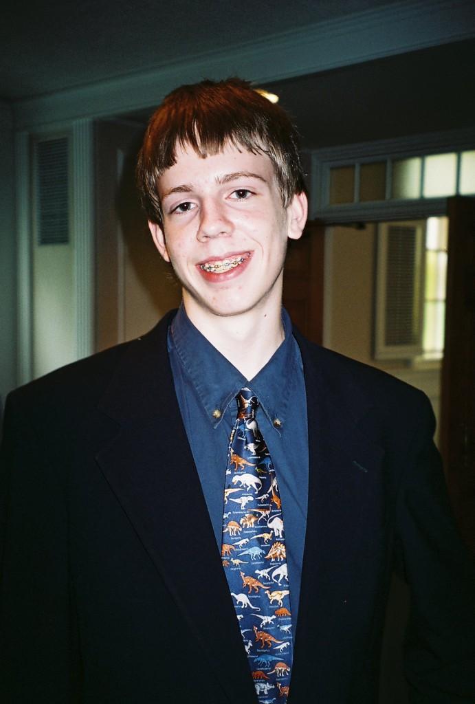 Krawatte mit Hemd - Dinosauriermotiv