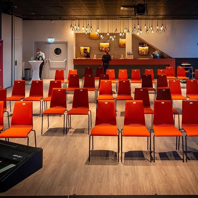 Der Konzert- und Eventsaal befindet sich im 10. Stock des neuen Zubaus im Haus des Meeres.