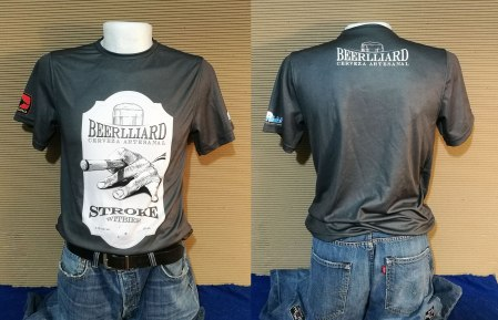 Playera Oficial Beerlliard Stroke tipo Dry Fit