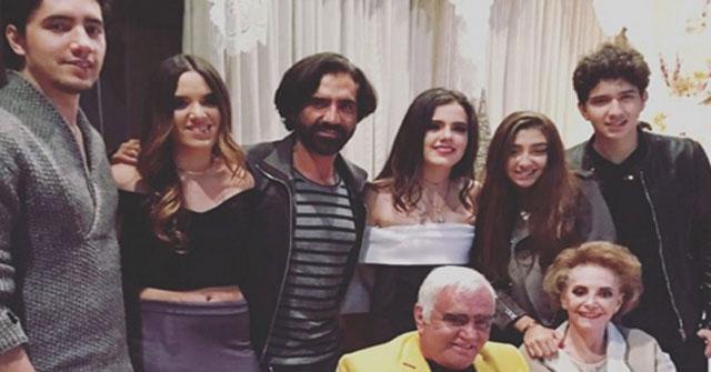 Alejandro Fernández pasa navidad junto a su familia