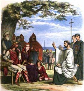 San Agustín de Canterbury predicando a los Reyes Sajones