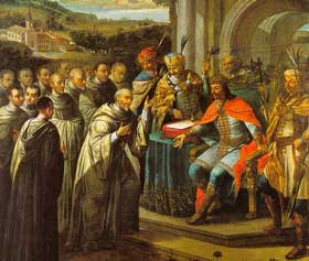 Fundación de un Monasterio pintura