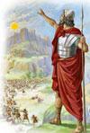 Josué le pide a Dios que detenga el Sol