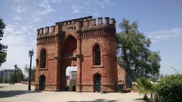 Portal no alto do Cerro Santa Lucia, no Centro de Santiago