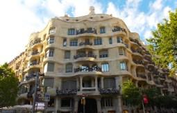 Casa Milà, de Gaudí, no Eixample