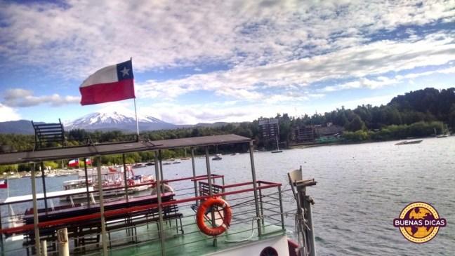 bandeira do chile em pucon