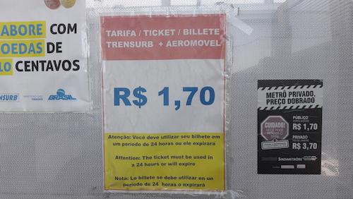 preço metro aeromovel porto alegre