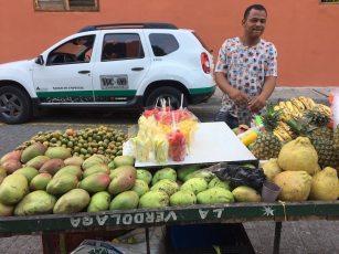 Vendedor de frutas em San Diego
