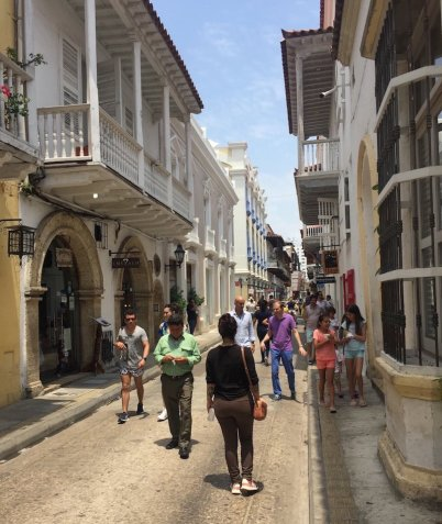 Rua do Centro e casarões coloniais