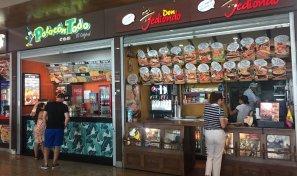Fast Foods no shopping de Bocagrande