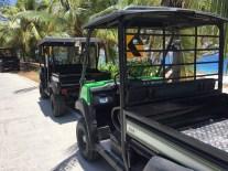 Carrinhos de golfe para dar a volta na ilha