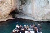 Maré alta na Grotta Azzurra