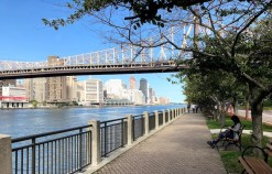 Calçadão e Queensboro Bridge