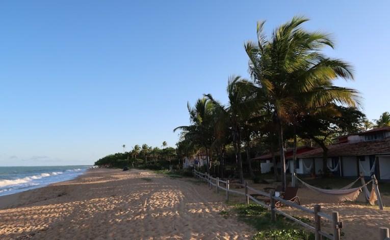 Praia principal de Caraíva