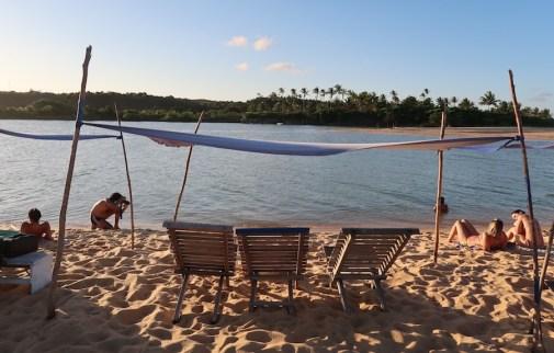 Fotógrafo na praia da Barra de Caraíva