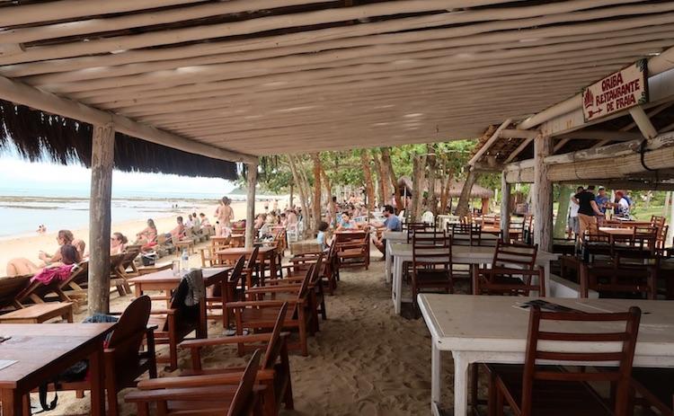 Restaurante na Praia do Espelho