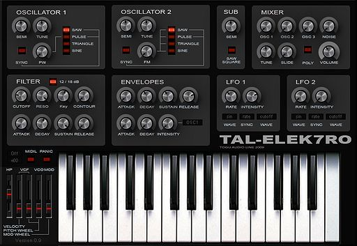 TAL-Elek7ro: VST Analog Synth von Togu Audio Line