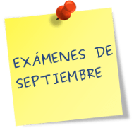 Colegio del Buen Consejo, calendario de exámenes de septiembre