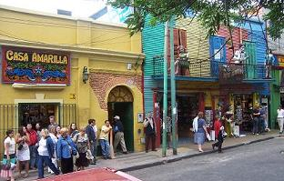 Colorful shopping in Caminito, La Boca