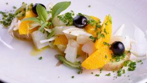 Recetas: Ensalada de bacalao, naranja y cebolleta